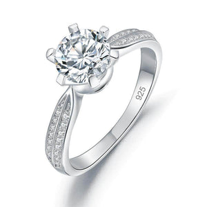 Silver Rings | 2 Ct CRown Engagement Ring