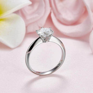 1.5 Carat Moissanite Solitaire Diamond Ring