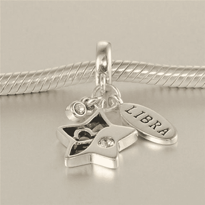 Charms | Sterling Silver Drop libra star sign charm (9765909906)