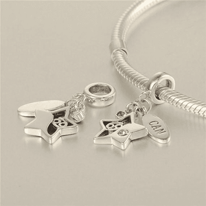 Charms | Sterling Silver Drop cancer star sign charm