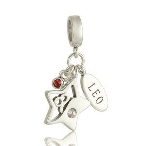 Charms | Sterling Silver Drop Leo star sign charm (9765626450)