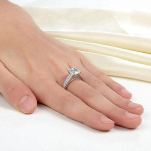Silver Rings | Silver 1.5 Carat Princess Cut Clear stoned Ring Rings Delivery time 10 days