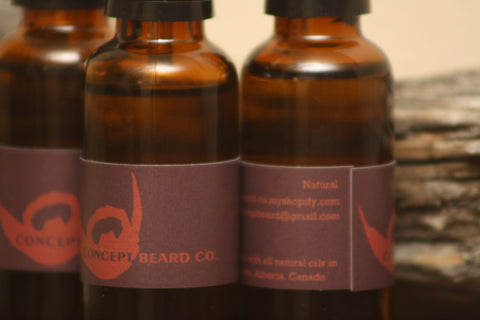 Natural Scent Beard Oil 1oz