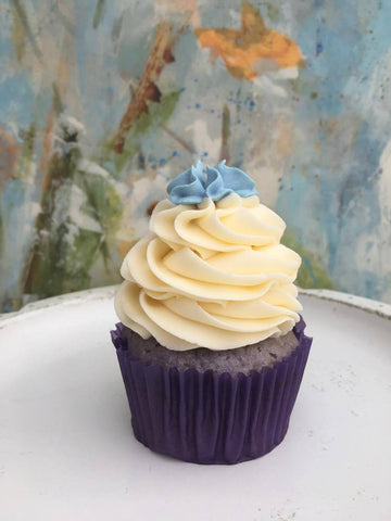"""Forget Me Not"" cupcakes - lavender and honey (per 6)"