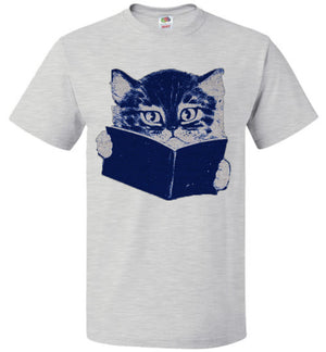 Cat Reading A Book Roseanne T-Shirt