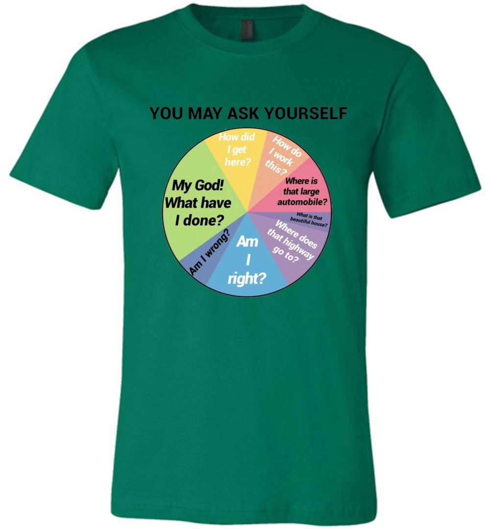 You May Ask Yourself Chart Shirt