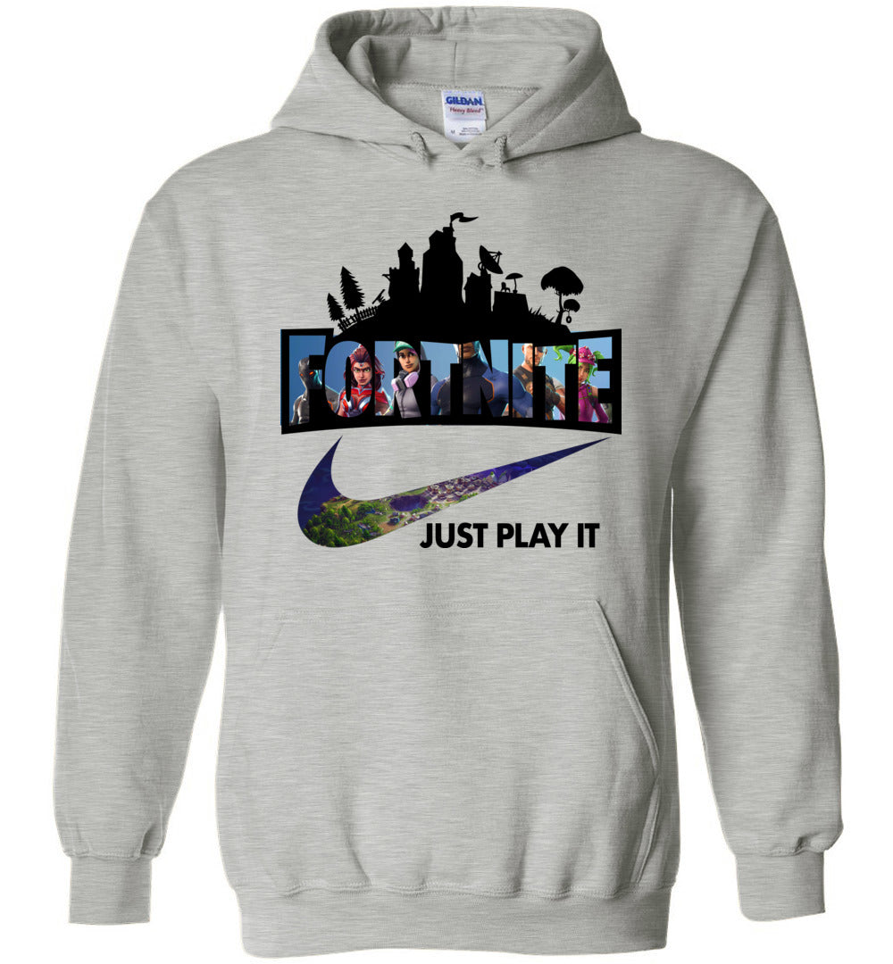 Fortnite Just Play It Hoodie Youth and Adult Sizes