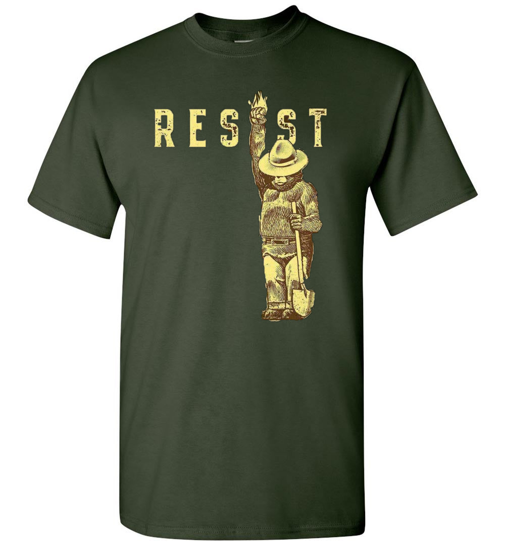 Resist Smokey Bear Unisex T-Shirt Forest