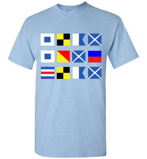 Slam Some Clam in Signal Flags Shirt