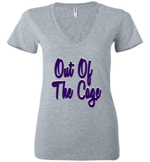 Out Of The Cage Womens V-Neck Shirt - Bring Me Tacos - 1