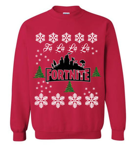 Fortnite Ugly Christmas Sweater Sweatshirt Falalala Funny