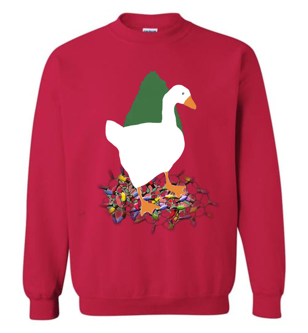 Ugly Christmas Goose Sweatshirt