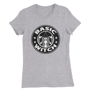 Basic Witch Starbucks Style Ladies T-Shirt