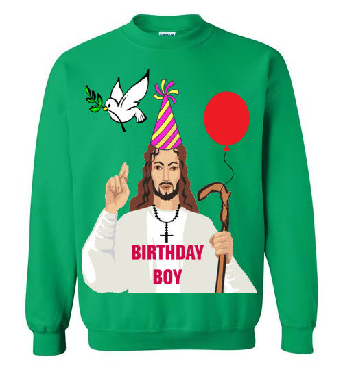 Jesus Birthday Boy - Ugly Christmas Sweatshirt - Bring Me Tacos