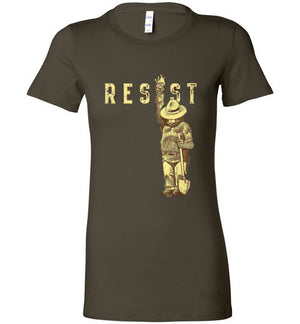 Smokey Bear Says Resist Ladies T-Shirt