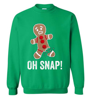 Oh Snap! Gingerbread Man Ugly Sweatshirt - Bring Me Tacos
