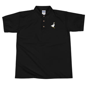 Untitled Goose Embroidered Polo Shirt