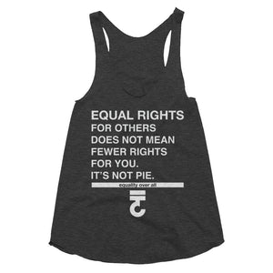 Equal Rights For Others Does Not Mean Fewer Women's racerback - Bring Me Tacos