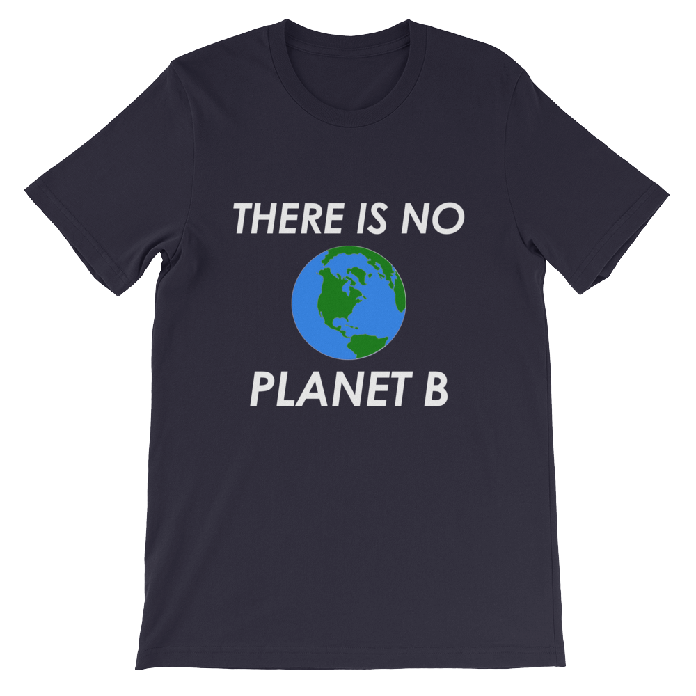 There Is No Planet B T-Shirt Earth Navy