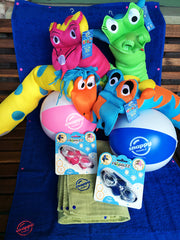 Kids Swim Towels and Toys