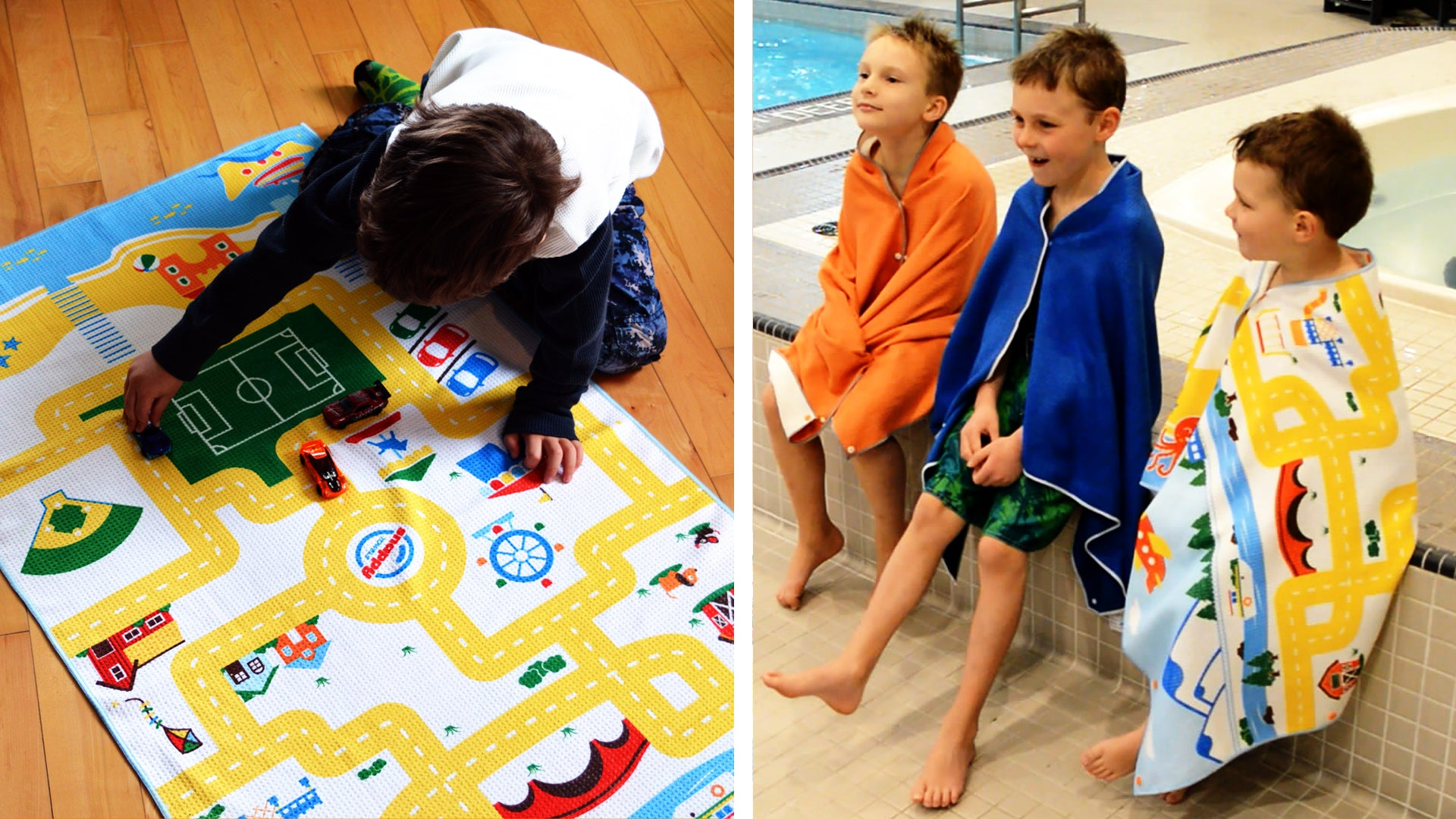 Live on Kickstarter! Play Mat / Wearable Travel Towel for Kids!