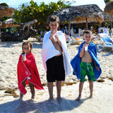 Snappy Towels for kids: wearable swim towels, beach towels, bath towels for kids with snaps to wear them as a cover-up or hands-free towel or changing cover.