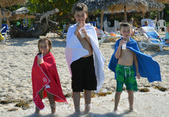 Microfiber beach towels for kids and large microfiber beach towels for adults