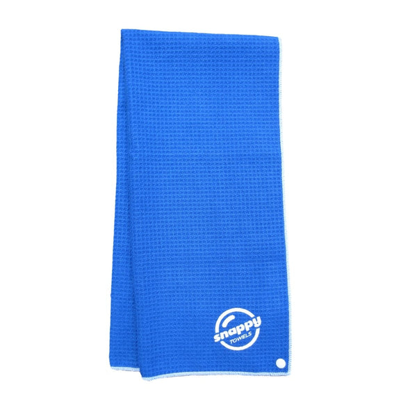 Ultimate Fitness, Camping, Travel Microfiber Towel with Snaps Scuba Blue