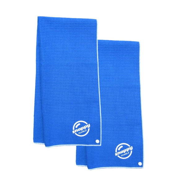 Ultimate Fitness, Camping, Travel Microfiber Towel with Snaps 2-pack Blue