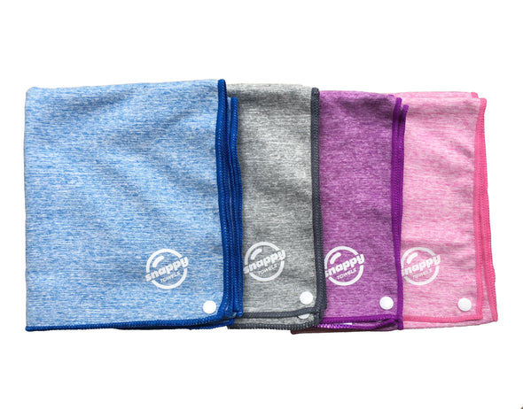 Snappy Fitness Towel Marle Style with Snaps
