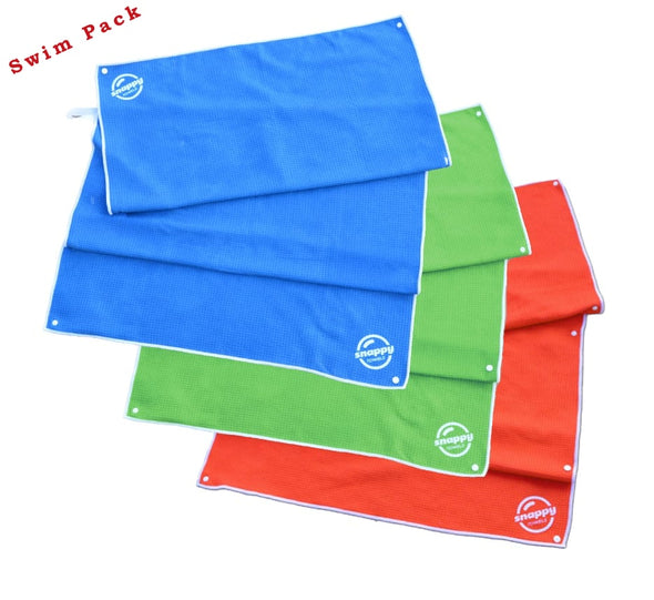 Snappy Swim/Sport Towel - Rainbow 3-Pack