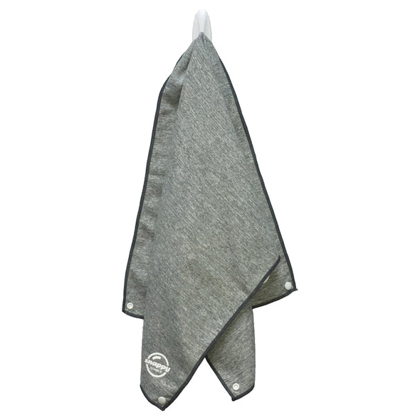 Snappy Fitness Towel Marle Style with Snaps - Coastal Gray