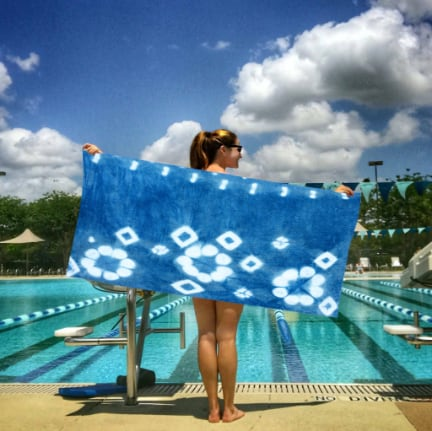 snappy towels eco tie dye lifestyle