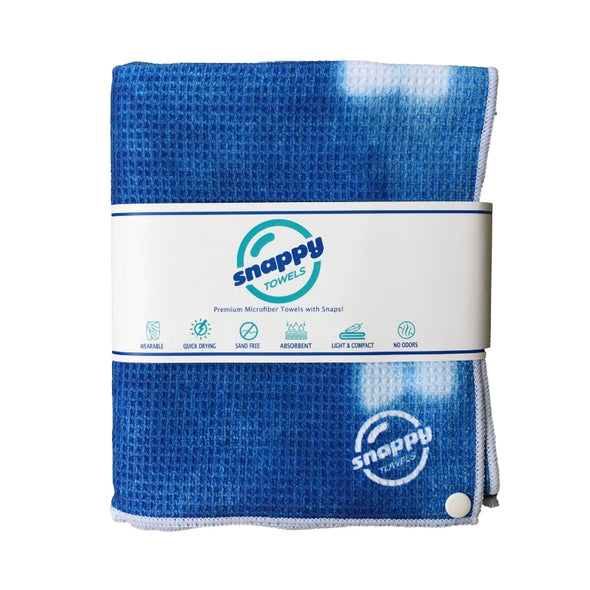 Snappy ECO Microfiber Beach Towel with Snaps! -  Indigo Blue