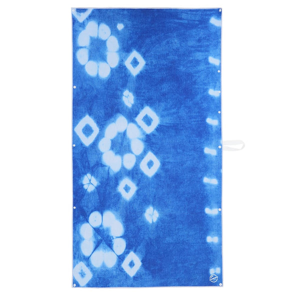 snappy towel eco collection beach towel size indigo blue