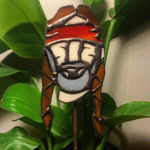 Willie Nelson Planter Stick