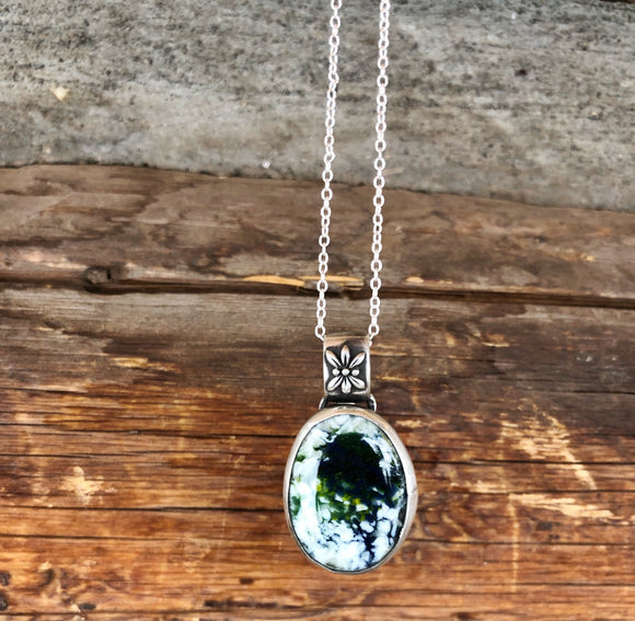 Green Blue and White Pendant