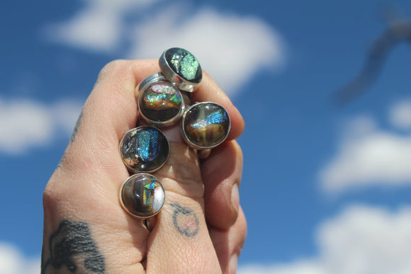 Made to Order Boulder Opal Stacker Rings