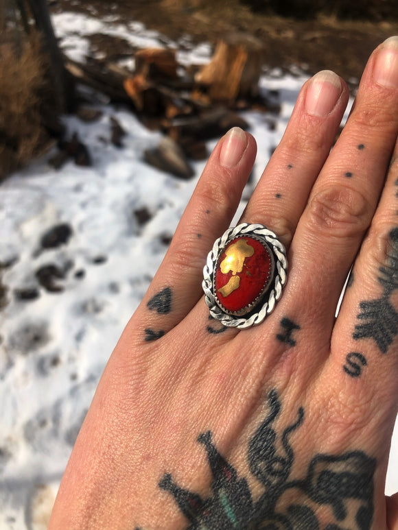 Red and Gold Ring