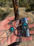 Turquoise Lighter Case w/Chain