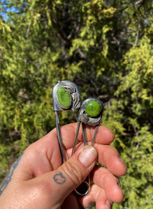 Spring Green Safety Pin