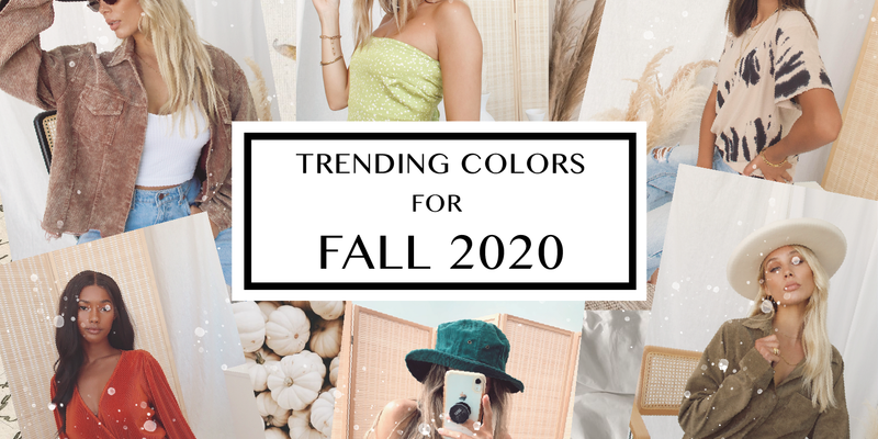 Trending Colors for Fall 2020