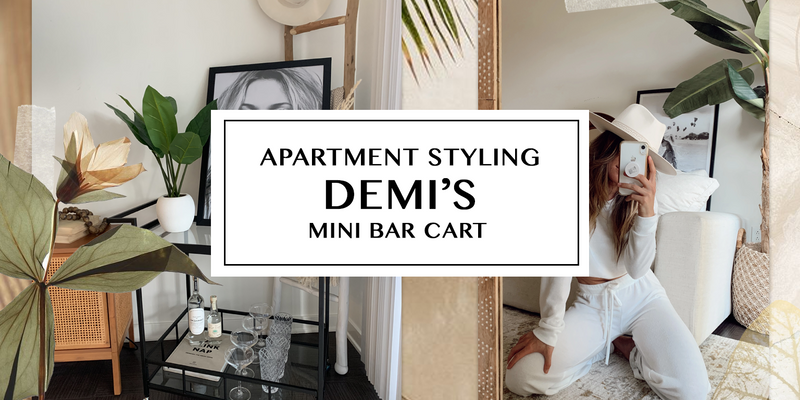 Apartment Styling: Demi's Mini Bar Cart