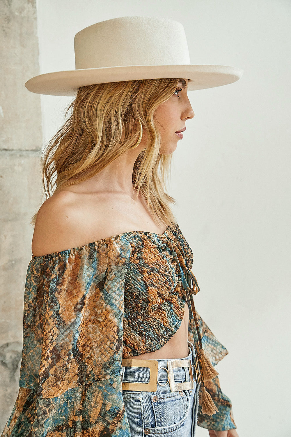 Saint Tropez Off The Shoulder Top