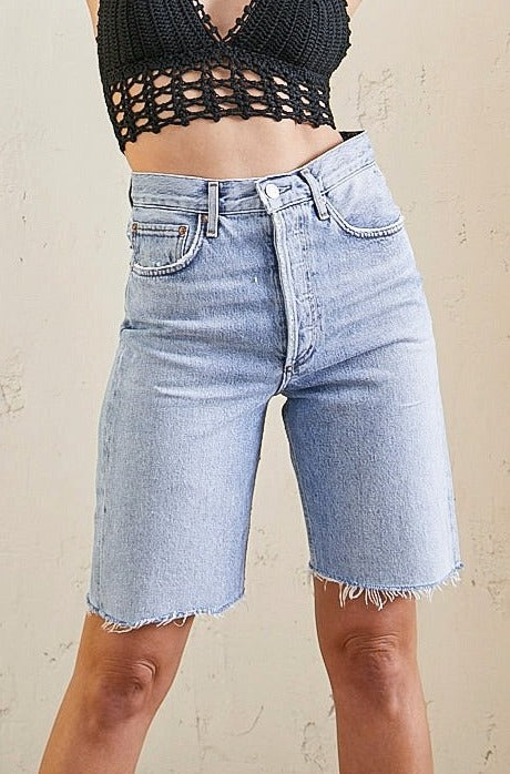 Agolde 90's Mid Rise Loose Shorts in Riptide