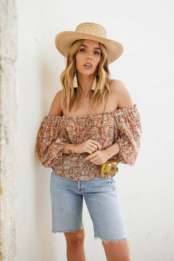 Moroccan Sands Off The Shoulder Top