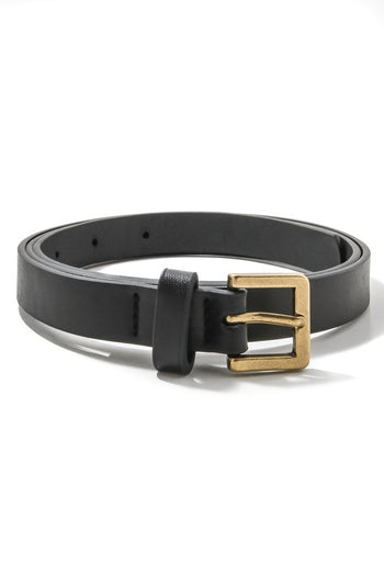 Candice Faux Leather Black Belt