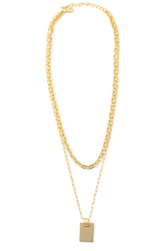 Nicolette Gold Layer Necklace