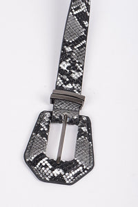 Autumns in Austin Black Reptile Belt