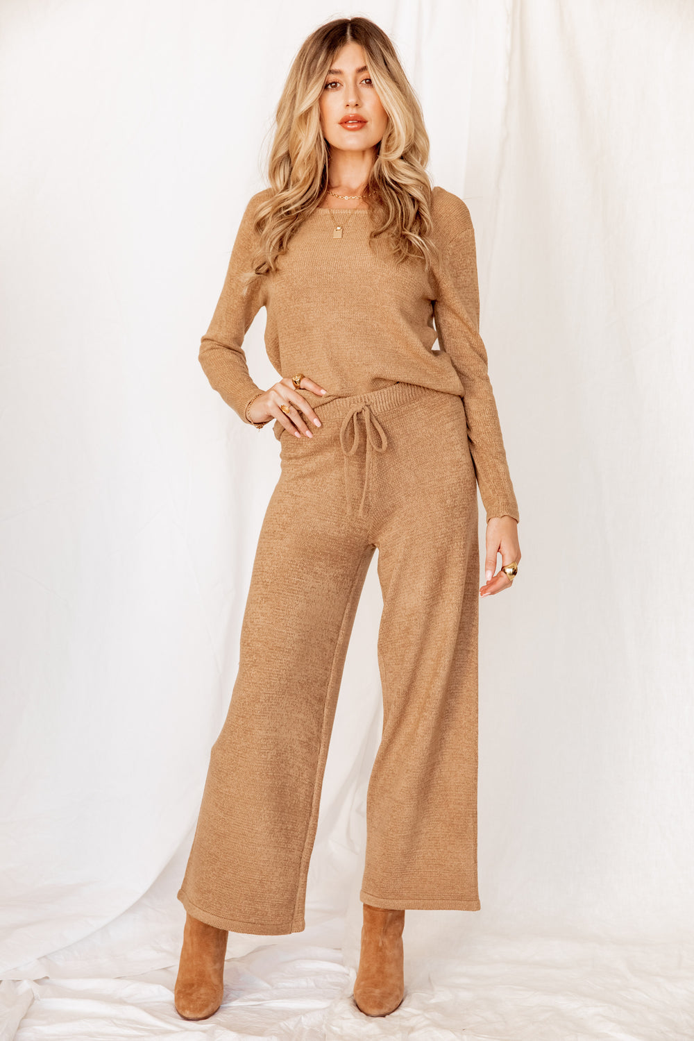 One Way Ticket Tan Lounge Pants